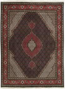 Tabriz 50 Raj Teppe 150X202 Ekte Orientalsk Håndknyttet Mørk Brun/Mørk Rød (Ull/Silke, Persia/Iran)