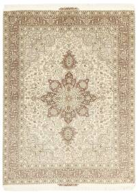 Tabriz 50 Raj Teppe 148X200 Ekte Orientalsk Håndknyttet Beige/Lys Grå (Ull/Silke, Persia/Iran)