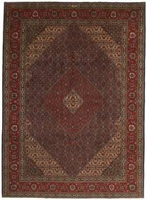 Tabriz 40 Raj Teppe 252X344 Ekte Orientalsk Håndknyttet Mørk Rød Stort (Ull/Silke, Persia/Iran)
