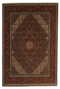 Tabriz 40 Raj Teppe 196X301 Ekte Orientalsk Håndknyttet Mørk Brun/Brun (Ull/Silke, Persia/Iran)