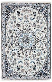 Nain 9La Teppe 90X140 Ekte Orientalsk Håndvevd Mørk Grå/Lys Grå (Ull/Silke, Persia/Iran)