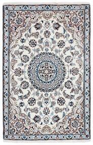 Nain 9La Teppe 90X142 Ekte Orientalsk Håndknyttet Mørk Grå/Beige/Hvit/Creme (Ull/Silke, Persia/Iran)