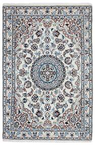 Nain 9La Teppe 99X148 Ekte Orientalsk Håndknyttet Lys Grå/Mørk Grå (Ull/Silke, Persia/Iran)