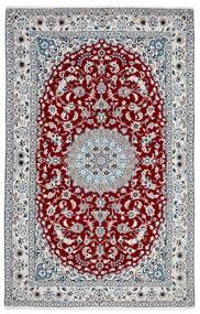 Nain 9La Teppe 156X245 Ekte Orientalsk Håndknyttet Mørk Grå/Hvit/Creme (Ull/Silke, Persia/Iran)
