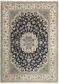 Nain 6La Teppe 210X293 Ekte Orientalsk Håndknyttet Lys Grå/Mørk Grå (Ull/Silke, Persia/Iran)