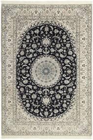 Nain 6La Teppe 208X303 Ekte Orientalsk Håndknyttet Lys Grå/Beige (Ull/Silke, Persia/Iran)