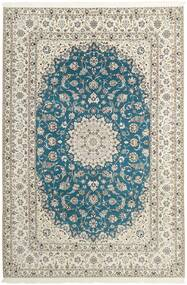 Nain 6La Teppe 210X312 Ekte Orientalsk Håndknyttet Lys Grå/Beige (Ull/Silke, Persia/Iran)
