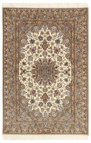 Isfahan Silkerenning Teppe 112X174 Ekte Orientalsk Håndknyttet Beige/Lysbrun (Ull/Silke, Persia/Iran)