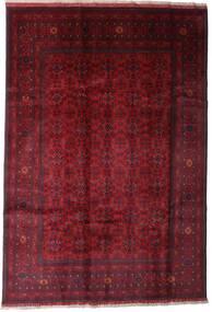 Afghan Khal Mohammadi Teppe 197X289 Ekte Orientalsk Håndknyttet Mørk Rød (Ull, Afghanistan)
