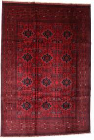 Afghan Khal Mohammadi Teppe 201X293 Ekte Orientalsk Håndknyttet Mørk Rød/Mørk Brun (Ull, Afghanistan)