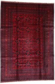 Afghan Khal Mohammadi Teppe 201X288 Ekte Orientalsk Håndknyttet Mørk Rød (Ull, Afghanistan)