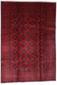 Afghan Khal Mohammadi Teppe 198X294 Ekte Orientalsk Håndknyttet Mørk Rød (Ull, Afghanistan)