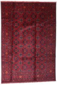 Afghan Khal Mohammadi Teppe 198X296 Ekte Orientalsk Håndknyttet Mørk Rød/Rød (Ull, Afghanistan)