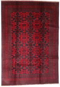 Afghan Khal Mohammadi Teppe 202X290 Ekte Orientalsk Håndknyttet Mørk Rød (Ull, Afghanistan)