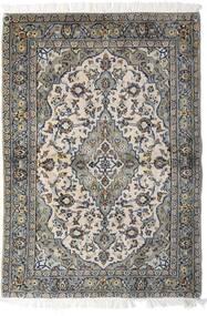 Keshan Teppe 98X140 Ekte Orientalsk Håndknyttet Lys Grå/Mørk Grå (Ull, Persia/Iran)