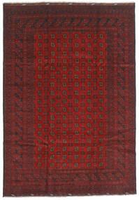 Afghan Teppe 202X289 Ekte Orientalsk Håndknyttet Mørk Rød/Mørk Grå (Ull, Afghanistan)