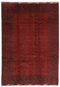 Afghan Teppe 202X283 Ekte Orientalsk Håndknyttet Mørk Rød/Mørk Brun (Ull, Afghanistan)