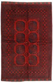 Afghan Teppe 162X239 Ekte Orientalsk Håndknyttet Mørk Rød/Mørk Brun (Ull, Afghanistan)