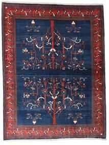 Gabbeh Kashkooli Teppe 154X200 Ekte Moderne Håndknyttet Mørk Lilla/Mørk Blå (Ull, Persia/Iran)