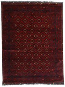 Kunduz Teppe 147X192 Ekte Orientalsk Håndknyttet Mørk Rød (Ull, Afghanistan)
