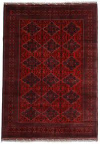 Kunduz Teppe 200X284 Ekte Orientalsk Håndknyttet Mørk Rød (Ull, Afghanistan)
