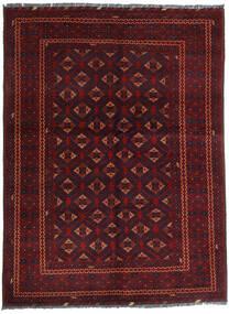 Kunduz Teppe 145X195 Ekte Orientalsk Håndknyttet Mørk Rød (Ull, Afghanistan)