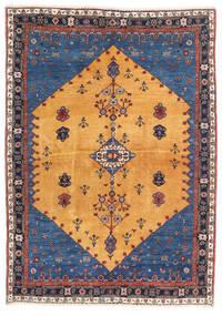 Gabbeh Kashkooli Teppe 124X174 Ekte Moderne Håndknyttet Lysbrun/Mørk Blå (Ull, Persia/Iran)