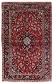 Keshan Teppe 98X158 Ekte Orientalsk Håndknyttet Mørk Rød/Mørk Blå (Ull, Persia/Iran)