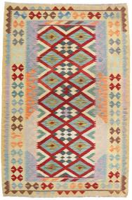 Kelim Afghan Old Style Teppe 125X189 Ekte Orientalsk Håndvevd Lysgrønn/Mørk Rød (Ull, Afghanistan)