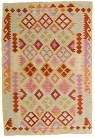 Kelim Afghan Old Style Teppe 125X183 Ekte Orientalsk Håndvevd Lysbrun/Mørk Beige (Ull, Afghanistan)