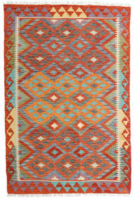 Kelim Afghan Old Style Teppe 119X180 Ekte Orientalsk Håndvevd Orange/Mørk Grå (Ull, Afghanistan)