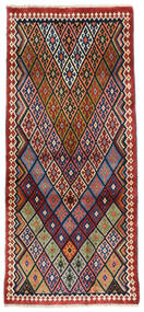 Ghashghai Teppe 81X178 Ekte Orientalsk Håndknyttet Teppeløpere Mørk Rød/Mørk Grå (Ull, Persia/Iran)