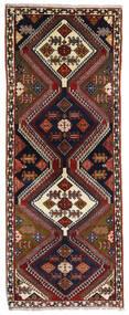 Ghashghai Teppe 80X203 Ekte Orientalsk Håndknyttet Teppeløpere Mørk Brun/Mørk Rød (Ull, Persia/Iran)