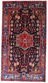 Nahavand Teppe 142X257 Ekte Orientalsk Håndknyttet Mørk Rød/Svart (Ull, Persia/Iran)