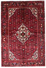 Hamadan Teppe 157X234 Ekte Orientalsk Håndknyttet Mørk Rød/Rød (Ull, Persia/Iran)