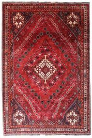 Ghashghai Teppe 205X308 Ekte Orientalsk Håndknyttet Mørk Rød/Rød (Ull, Persia/Iran)