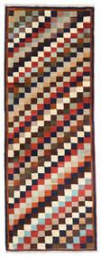 Ghashghai Teppe 74X195 Ekte Orientalsk Håndknyttet Teppeløpere Mørk Lilla/Beige (Ull, Persia/Iran)