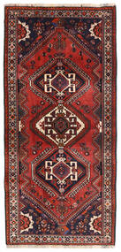 Ghashghai Teppe 84X180 Ekte Orientalsk Håndknyttet Teppeløpere Mørk Rød/Mørk Brun (Ull, Persia/Iran)
