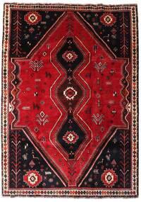 Ghashghai Teppe 193X270 Ekte Orientalsk Håndknyttet Mørk Rød (Ull, Persia/Iran)