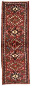 Hamadan Teppe 72X216 Ekte Orientalsk Håndknyttet Teppeløpere Mørk Rød/Svart (Ull, Persia/Iran)