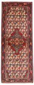Asadabad Teppe 80X204 Ekte Orientalsk Håndknyttet Teppeløpere Mørk Rød/Mørk Brun (Ull, Persia/Iran)