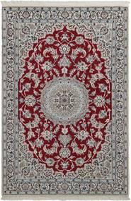 Nain 9La Teppe 118X180 Ekte Orientalsk Håndknyttet Lys Grå/Mørk Brun (Ull/Silke, Persia/Iran)