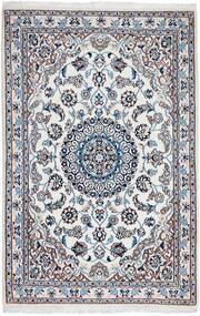 Nain 9La Teppe 97X150 Ekte Orientalsk Håndknyttet Lys Grå/Lys Blå (Ull/Silke, Persia/Iran)