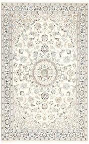 Nain 9La Teppe 115X180 Ekte Orientalsk Håndknyttet Beige/Lys Grå/Hvit/Creme (Ull/Silke, Persia/Iran)