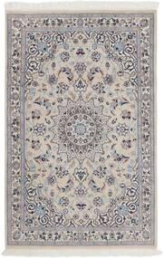 Nain 9La Teppe 116X180 Ekte Orientalsk Håndknyttet Lys Grå/Mørk Brun (Ull/Silke, Persia/Iran)