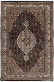 Tabriz Royal Teppe 199X292 Ekte Orientalsk Håndknyttet Mørk Brun/Brun ( India)