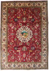 Tabriz Teppe 246X355 Ekte Orientalsk Håndknyttet Mørk Rød/Mørk Brun (Ull, Persia/Iran)