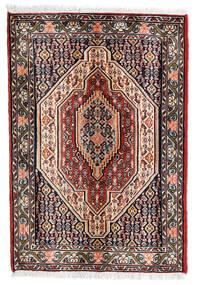 Senneh Teppe 68X100 Ekte Orientalsk Håndknyttet Mørk Rød/Mørk Brun (Ull, Persia/Iran)