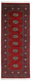 Pakistan Bokhara 2Ply Teppe 75X191 Ekte Orientalsk Håndknyttet Teppeløpere Mørk Rød/Mørk Brun (Ull, Pakistan)