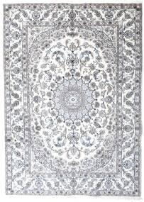 Nain Teppe 241X340 Ekte Orientalsk Håndknyttet Lys Grå/Hvit/Creme (Ull, Persia/Iran)